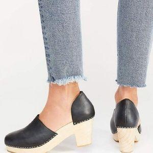 NEW NIB Free People Monroe  clog black Heel Shoes